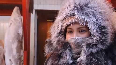 """生活在零下50度下的雅库特人,围坐一起吃""""生肉"""",没有寄生虫吗"""