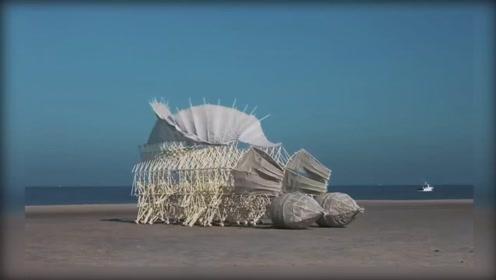 你见过以风为食的机械怪兽吗?怪奇的风力仿生兽,一起来见识下!