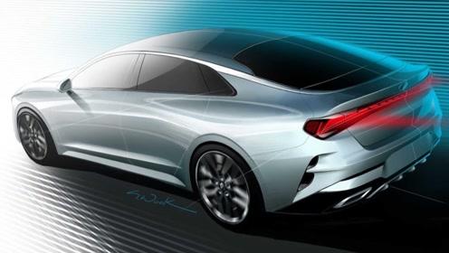 动感的溜背造型 全新起亚K5最新预告图