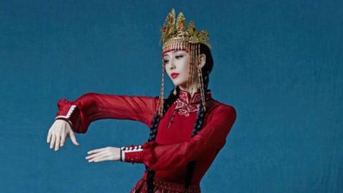 佟丽娅封面硬照完全认不出,民族风造型却美上天