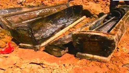 工地挖出神秘棺材,连挖掘机都挖不烂,开棺后却香气四溢!