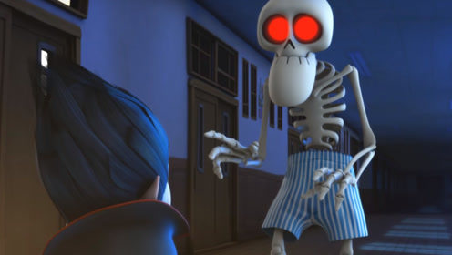 班级打扫卫生,吸血鬼却在偷懒,小丸子独眼兽扮演死神老师恶搞!