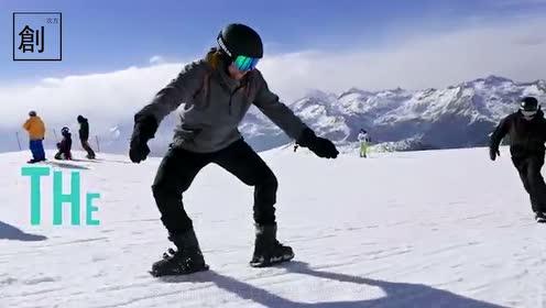 冬天来了,像轮滑一样雪上飘