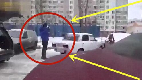 不愧是战斗民族!遇到乱停车的情况,老司机选择这么做!