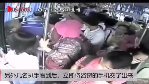 海口一辆公交惊现6名小偷,3乘客手机同时被盗!司机出手了