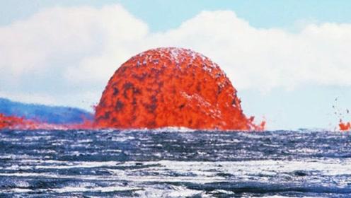 当熔岩遇到海水会发生什么?这场面好壮观