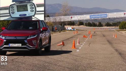 麋鹿测试:三菱奕歌VS马自达CX5,谁操控更强,看完就知道了!
