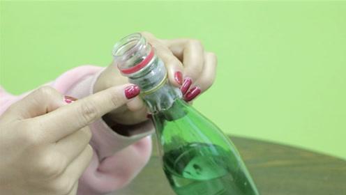 玻璃瓶放个塑料瓶,再用打火机烤一烤,真的是实用,能省下不少钱