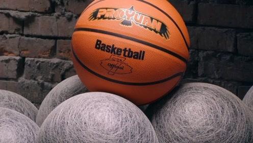 篮球是怎么样被制作出来的?外国工厂展示过程,画面强迫症最爱