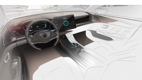 比亚迪首款中大型车HC内饰设计图曝光,很有高级感