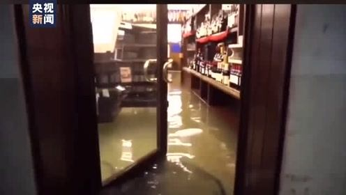 意大利威尼斯遭遇罕见洪水