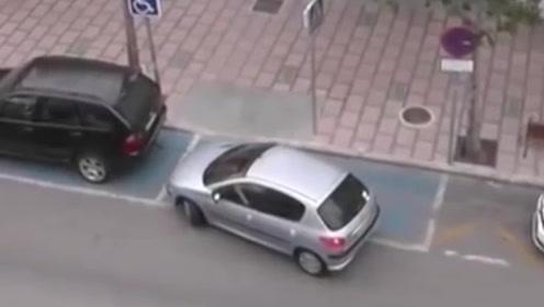 女司机侧方停车真让人着急,开车10分钟停车半小时,驾校白学了