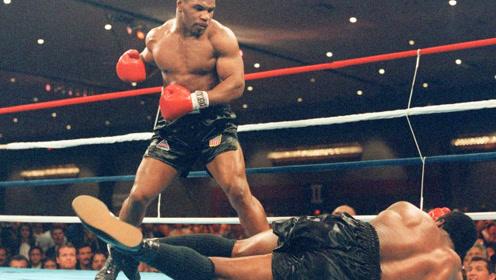 不服?泰森出狱首战就猛捶现役拳王,连裁判都一阵后怕