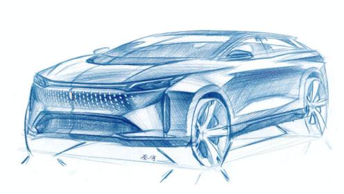 定位中型SUV!一汽奔腾首款纯电动车设计图曝光