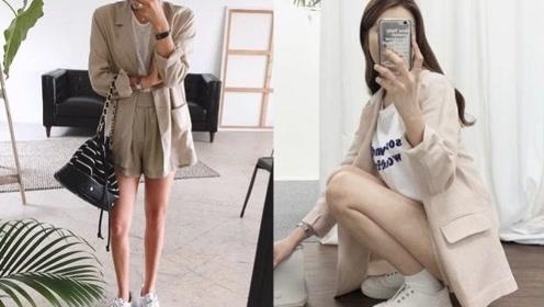 小白色鞋是百搭配件,怎么搭配好看,还需要你教路吗?