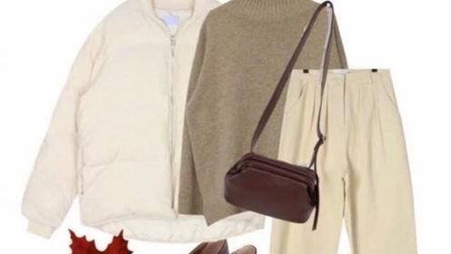 一件米白羽绒服的7种搭配,冬季温暖又气质,轻松变身时髦精