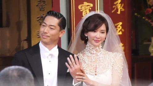 林志玲婚礼现场曝光 新人深情相吻激动落泪