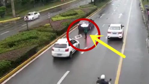 发生这种交通事故,有理也说不清楚,还好监控拍下全过程
