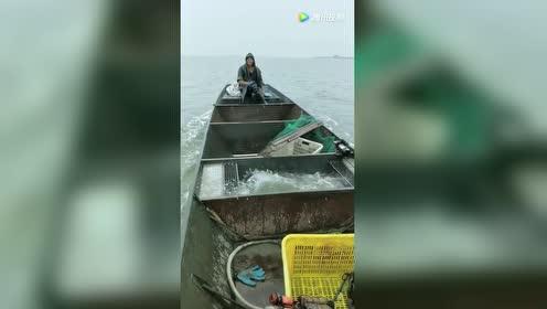就服拍视频的!知道鱼什么时候自己跳上船!