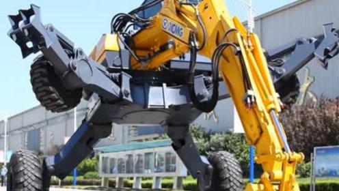 中国发明的挖掘机太牛了,简直就是变形钢铁侠,老外抢着购买!