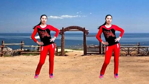 老年冬季热身操《雪莲姑娘》好听好学好看的广场舞