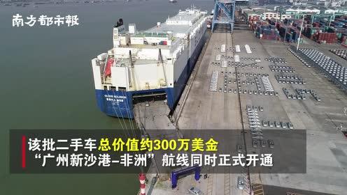 """超500辆二手车从广州港""""漂洋过海""""去非洲,价值300万美金"""