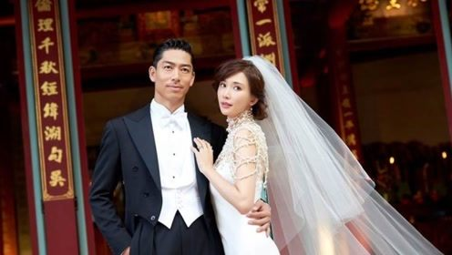 林志玲婚礼现场多套礼服似仙女 与AKIRA依偎对视幸福满溢