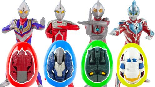 炫酷奥特曼发光人偶怪兽变形蛋奇趣蛋玩具