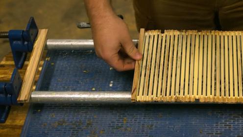 大胡子把木托盘拆了,制作1000支铅笔,全程高能,我都没舍得快进