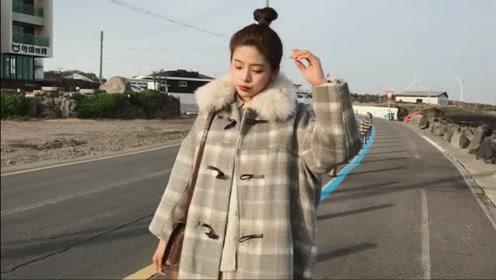 秋冬可爱大衣外套穿搭,小个子女生的时髦搭配,显高洋气又很减龄