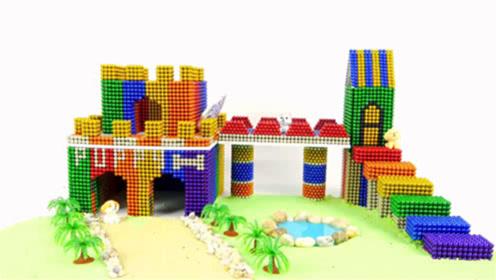 创意巴克球教程,如何用彩色巴克球,水晶泥建造彩虹停车场?