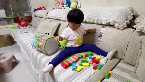 爸爸:有这样玩积木的吗?宝宝:你懂啥?玩的开心最重要!