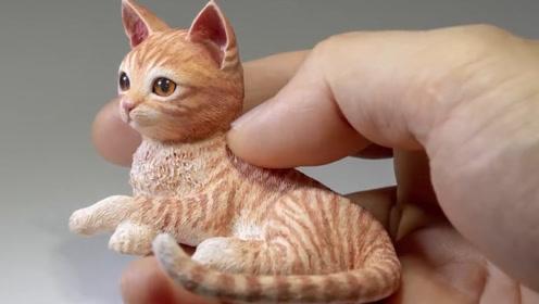 """牛人用3D打印笔,制作一只""""猫咪"""",成品让人真假难辨!"""