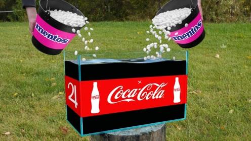 10000颗曼妥思VS可口可乐,会有什么神奇反应?下一秒别眨眼!