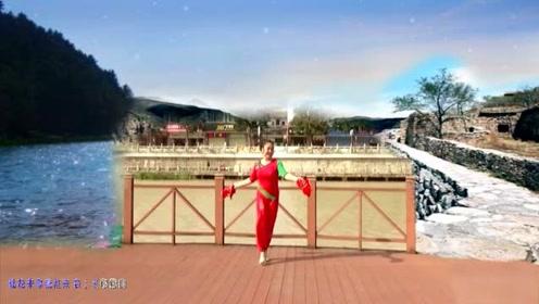 广场舞《小调情歌桃花红》民族风格,浓郁的乡土气息,俏皮甜美