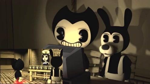 班迪与油印机自制:鲍里斯和班迪看纪录片被吓坏了