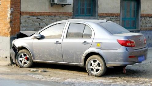 教你判断车头与墙壁的距离,只要看准这个点,停车很简单