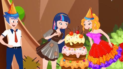 女孩独自过生日很失落,一开门却发现个大蛋糕,感动的流泪了!