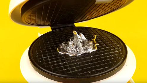 把金属镓放进高温电饼铛里会发生什么?结果太有趣了!