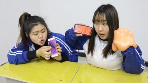 同桌炫耀肉肉泥,没想柚柚会用手机做泥,无硼砂无任何材料