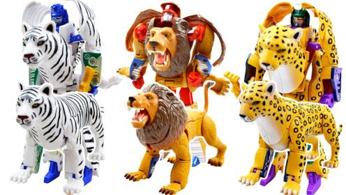 炫酷动物之王变形金刚机器人玩具