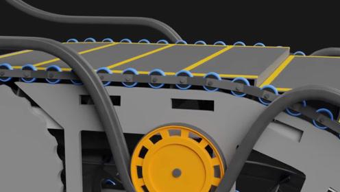 电动扶梯靠什么运行?牛人用3D演示内部结构,运行原理一目了然