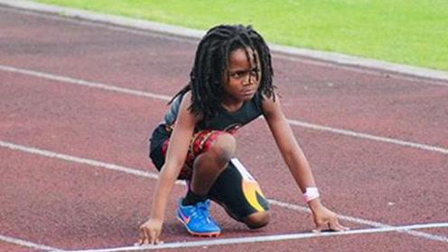 世界最快的孩子!年仅7岁百米赛跑仅差博尔特5秒,裁判吓到沉默