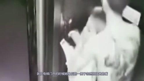 男子深夜电梯对无知少女竟做出这样的事!