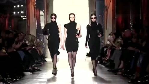 三个小姐姐一同走秀,尽显高贵典雅,气质十足