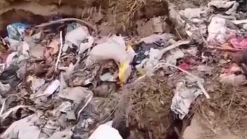 """冶炼厂直排黄河支流,垃圾堆满河堤,曾经的""""母亲河""""水,鸟喝一口都会死"""