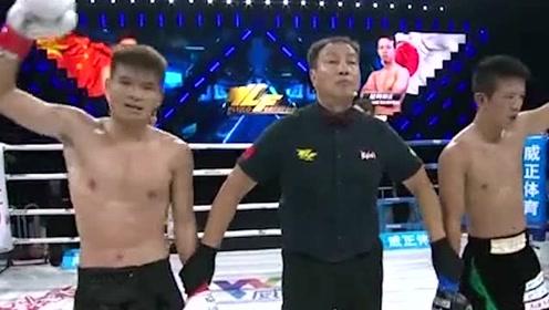 中国拳手陈勇疯狂击打日本选手,日本拳手根本抵挡不住这种力度