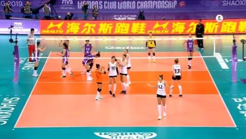 2019女排世俱杯第三轮,伊萨奇巴希3:0广东恒大,全场回放