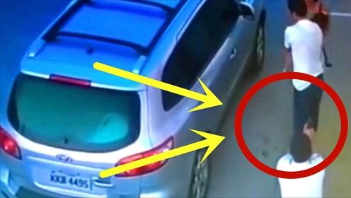 一家人刚下车遭匪徒袭击,为保护妻儿,男子无奈做出这可怜之举!