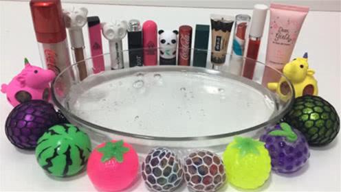 DIY史莱姆,解压球,水果泥,口红指甲油粉底,熊猫饰品等